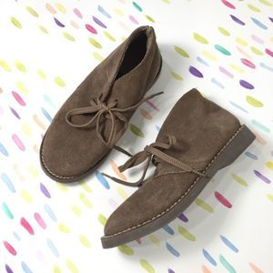 Crewcuts boys tan brown suede desert lace boot 2